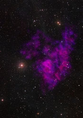 Small part of an infinite star field. 3D rendering