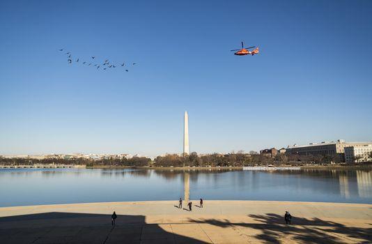 Washington Monument from the Jefferson Memorial in Washington DC