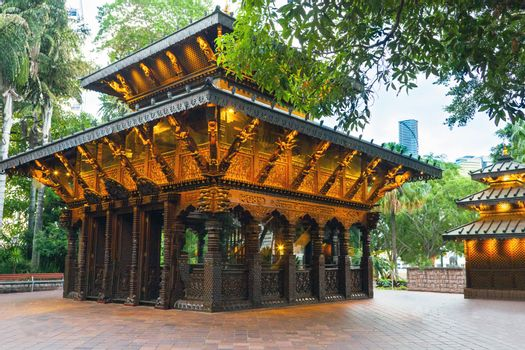 Nepal Peace Pagoda at South Bank Parklands in Brisbane Queenslan
