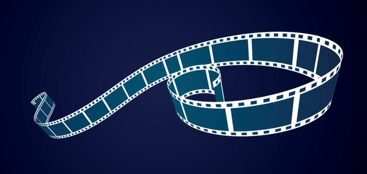 Film strip background. Vector close up illustration