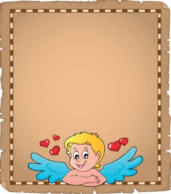 Cupid topic parchment 2