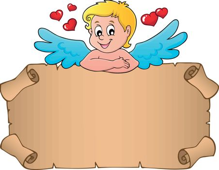Cupid topic parchment 3