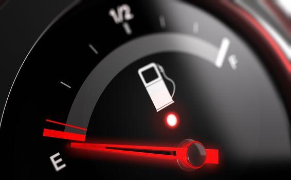 Empty Fuel Tank Indicator