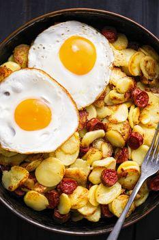 rustic sausage hash breakfast