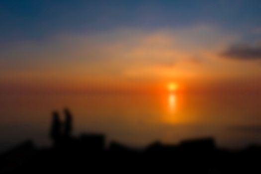 Gold sunset - soft lens bokeh image. Defocused background