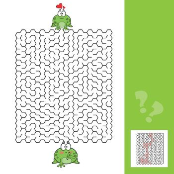 Frogs Maze Game with answer