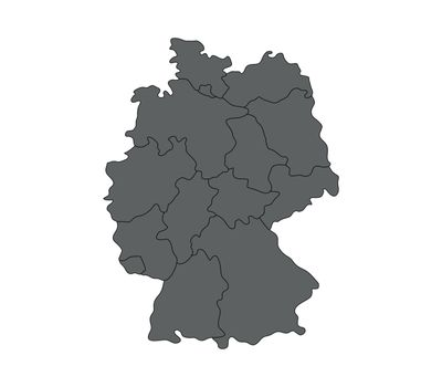 map germany with regions