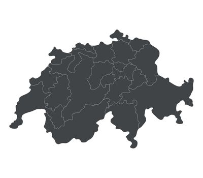 Swiss map with regions