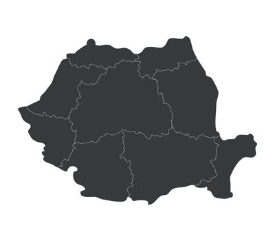 romania map with regions