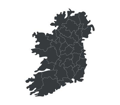 ireland map with regions