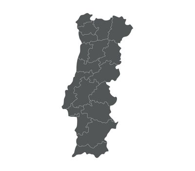 map of Portugal with regions