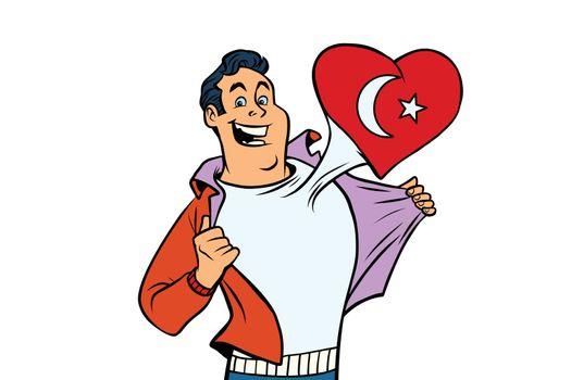 Turkey patriot isolated on white background