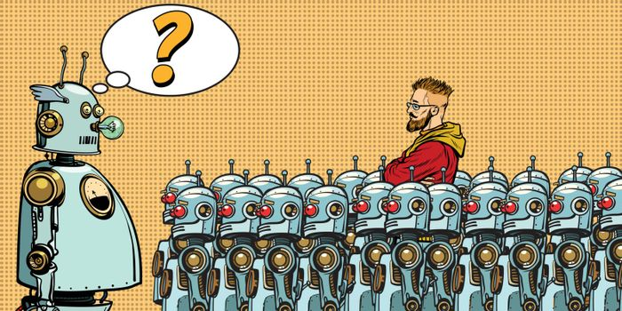 Future. The choice between robots and humans