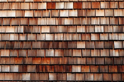 Texture of wooden tile roof in Schwarzwald, Germany