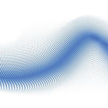 3d mesh halftone vector background illustration on white