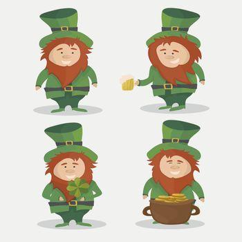 Saint Patrick. National Irish holiday - vector set