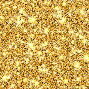 Gold glitter texture. Golden sparcle background. Luxory backdrop. Amber particles. Fashion gleam pattern for design party invitation, card, poster, banner, web