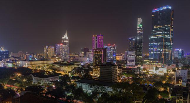 Saigon Ho Chi Minh Cityscape Nightlife