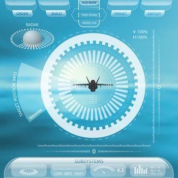 HUD futuristic technology interface
