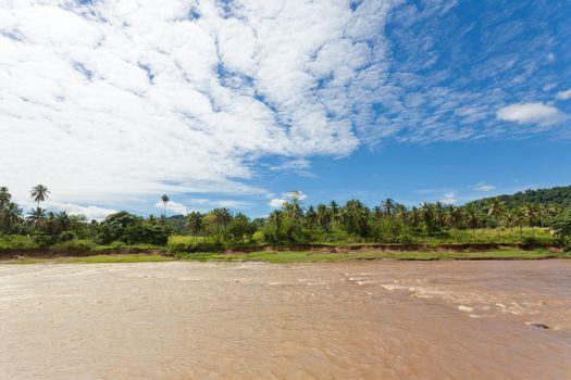 Maha Oya river, Pinnawala, Sri Lanka