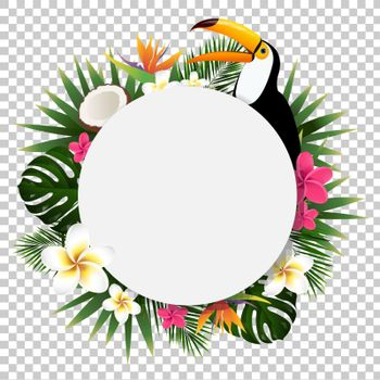 Summer Tropical Banner Isolated