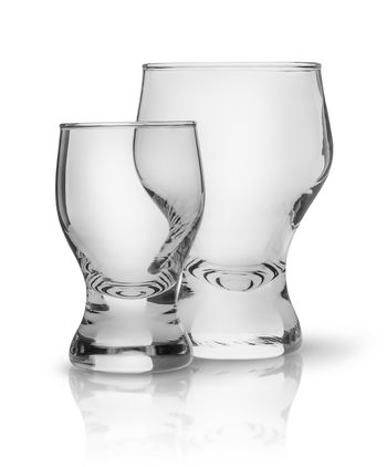 Two glasses side by side