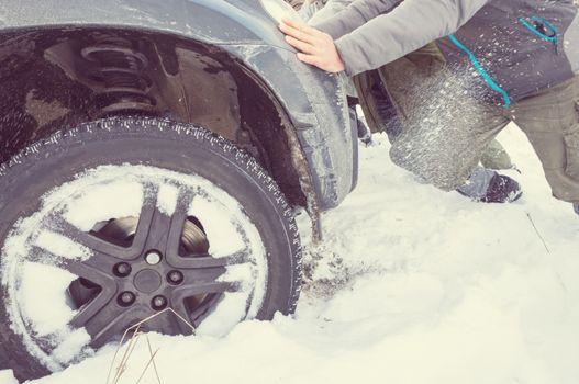 Car in winter season
