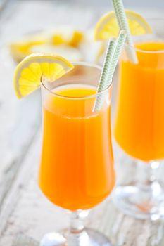 Glasses Of Refreshing Orange Juice