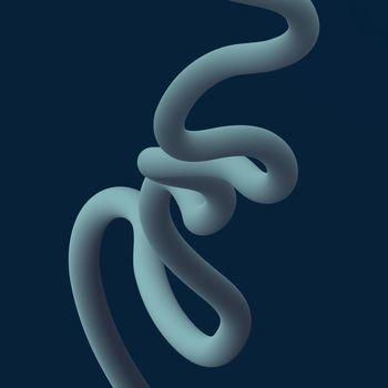 Abstract fluid line. Gradient flow design. Vector illustration