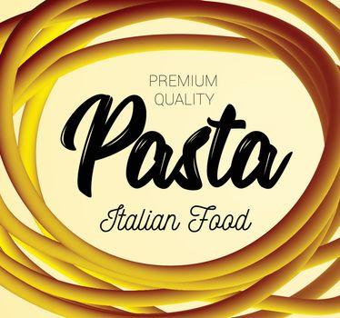 Pasta. Traditional dish of Italian cuisine. Vector illustration.