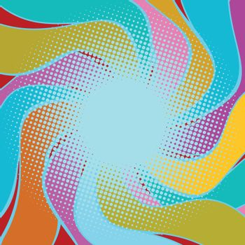 multicolored wavy halfton background
