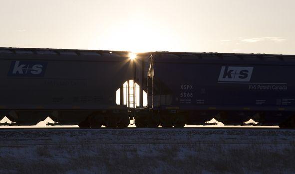 Rail Cars Sunset