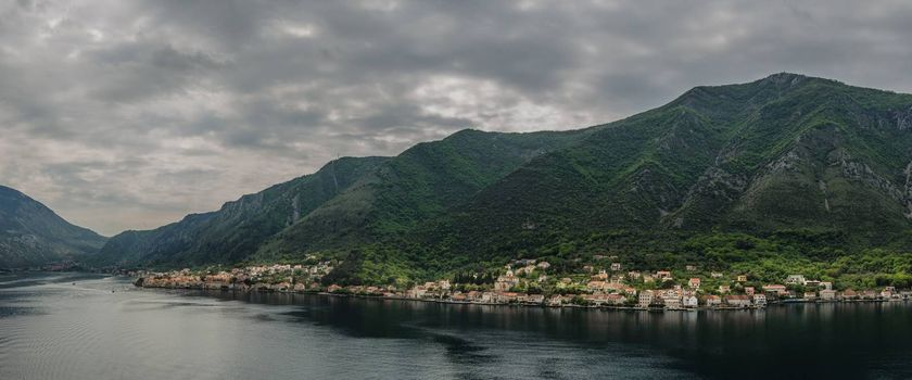 landscape of Kotor in Montenegro panorama view