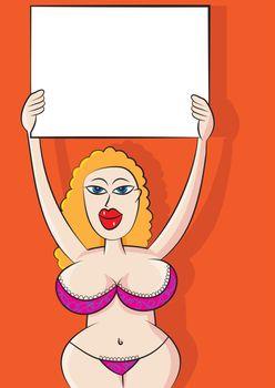 sexy annoucement message bikini girl