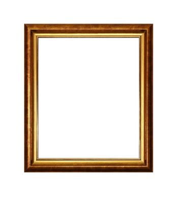 Bronze and golden picture or photo frame