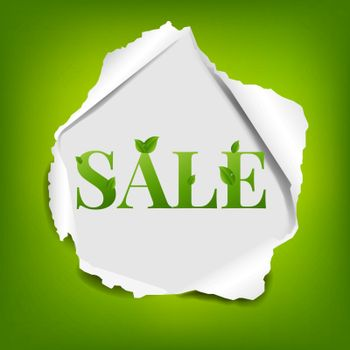 Sale Poster With Torn