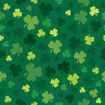 Three leaf clover seamless background 4 - eps10 vector illustration.