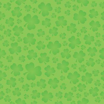 Three leaf clover seamless background 5 - eps10 vector illustration.