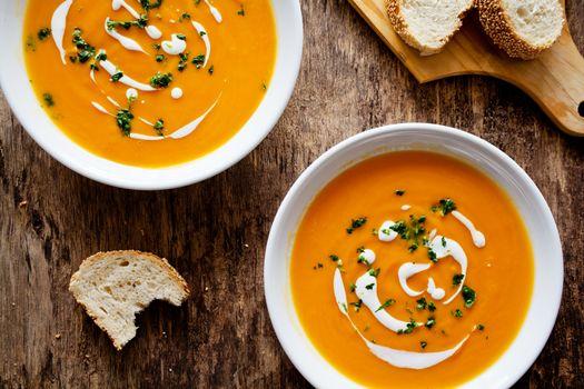 Spicy Homemade Pumpkin Soup