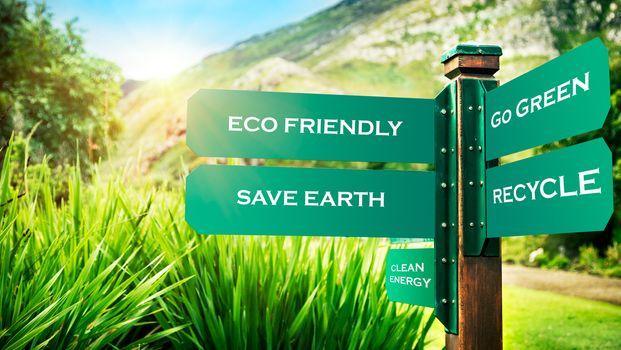Conceptual photo of a saving earth