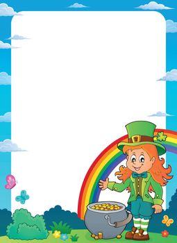 Leprechaun girl theme frame 1