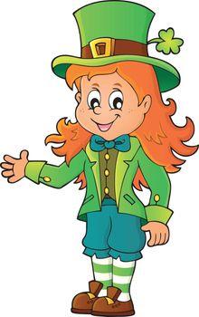 Leprechaun girl theme image 1
