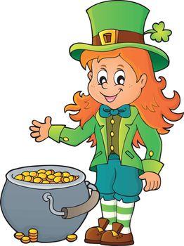 Leprechaun girl theme image 2