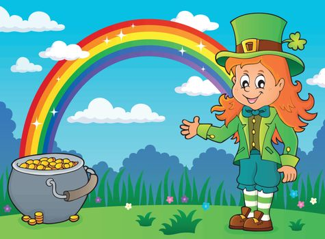 Leprechaun girl theme image 4