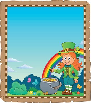 Leprechaun girl theme parchment 2