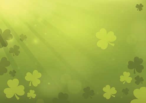 Three leaf clover abstract background 3 - eps10 vector illustration.