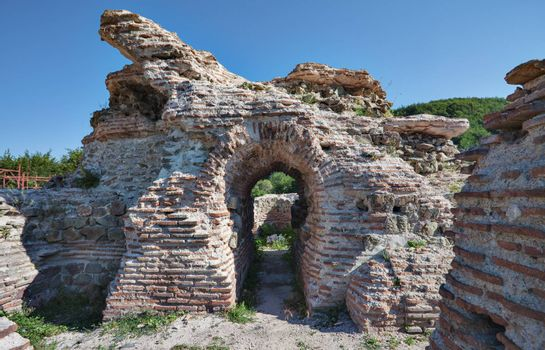 Gate of Trajan Fortress - historic roman mountain pass near Ihtiman, Bulgaria
