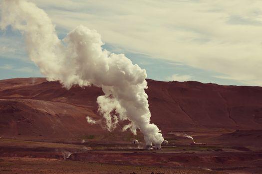 Geothermal station