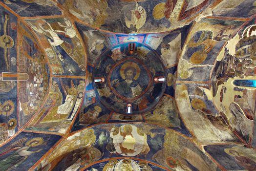 Interior paintings of Boyana church in Sofia, Bulgaria, Europe.