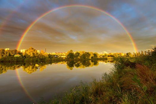 Rainbow on the lake